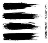 grunge ink brush strokes.... | Shutterstock .eps vector #786804994