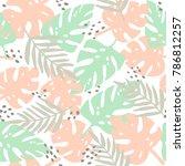tropical leaves summer seamless ...   Shutterstock .eps vector #786812257