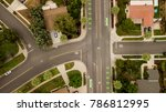 Aerial Drone View Of A Suburba...