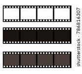 blank film frame stock... | Shutterstock .eps vector #786816307