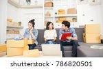 start up small business... | Shutterstock . vector #786820501