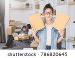startup small business... | Shutterstock . vector #786820645
