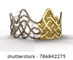 a religious crucifixion concept ... | Shutterstock . vector #786842275