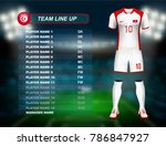tunisia soccer jersey kit with... | Shutterstock .eps vector #786847927