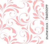 floral seamless pattern.... | Shutterstock .eps vector #786850099
