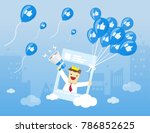 illustration vector of young... | Shutterstock .eps vector #786852625