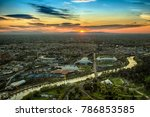 yarra river and train lines... | Shutterstock . vector #786853585