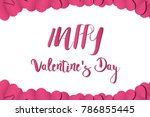 happy valentine's day text font ... | Shutterstock .eps vector #786855445