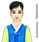 animation portrait of the young ... | Shutterstock .eps vector #786855469
