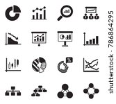 solid black vector icon set  ... | Shutterstock .eps vector #786864295