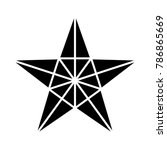 star symbol vector star icon... | Shutterstock .eps vector #786865669