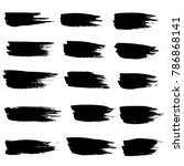grunge ink brush strokes.... | Shutterstock .eps vector #786868141