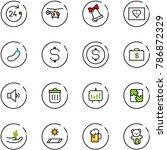 line vector icon set   24 hours ... | Shutterstock .eps vector #786872329