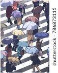 illustration of city people...   Shutterstock .eps vector #786873115