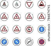 line vector icon set   road... | Shutterstock .eps vector #786874741