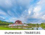 ho kham luang  royal pavilion ... | Shutterstock . vector #786885181