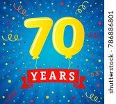 70 years anniversary... | Shutterstock .eps vector #786886801