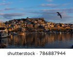 sunset view of kavala greece | Shutterstock . vector #786887944