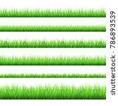 spring green grass  borders ... | Shutterstock .eps vector #786893539