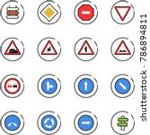line vector icon set   sign... | Shutterstock .eps vector #786894811