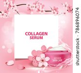 sukura   cherry blossom... | Shutterstock .eps vector #786896074