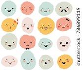 cute cartoon monsters set.... | Shutterstock .eps vector #786899119