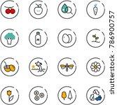 line vector icon set  ...   Shutterstock .eps vector #786900757