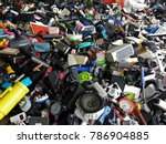 pile of used electronic and... | Shutterstock . vector #786904885
