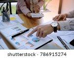 business people meeting design... | Shutterstock . vector #786915274