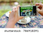 mobile phone shot picture cell... | Shutterstock . vector #786918391
