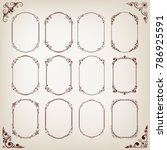 set of vintage circle frames... | Shutterstock .eps vector #786925591