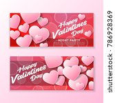 happy valentines day and... | Shutterstock .eps vector #786928369