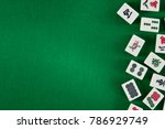 White Green Tiles For Mahjong...
