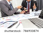 colleagues are discussing... | Shutterstock . vector #786933874