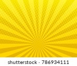 yellow shining halftone design... | Shutterstock .eps vector #786934111