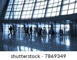 people silhouettes at airport... | Shutterstock . vector #7869349