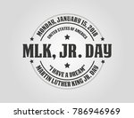 martin luther king day... | Shutterstock .eps vector #786946969