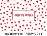 vector heart seamless pattern....   Shutterstock .eps vector #786947761