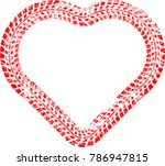 tire tracks in heart form. car... | Shutterstock .eps vector #786947815