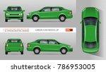 green car vector mock up for... | Shutterstock .eps vector #786953005