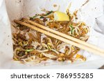 waste food concept thai food... | Shutterstock . vector #786955285