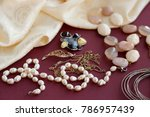 jewelry in the form of pearl... | Shutterstock . vector #786957439