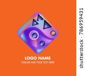 vector abstract colorful logo... | Shutterstock .eps vector #786959431