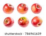 beautiful ripe juicy apple on a ...   Shutterstock . vector #786961639