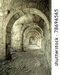 urban underground tunnel - stock photo