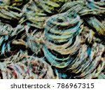 wire coils as abstract pattern