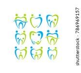 family dental. dental logo.... | Shutterstock .eps vector #786969157