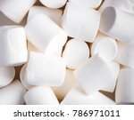 Marshmellow top view - sweet background