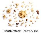 pine nuts  pignoli  seeds of... | Shutterstock . vector #786972151