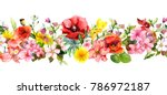 meadow flowers  wild grasses ... | Shutterstock . vector #786972187